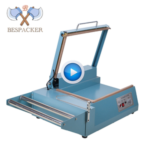 Bespacker FQL-380 manual L bar sealing and cutting machine connect with heat shrinkable packaging wrapping machine