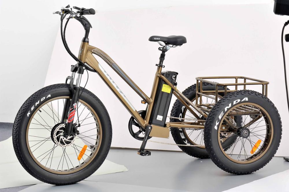 24 Pollici Fat Tire A Tre Ruote Bici Elettrica Con 36 V 350 W Bafang Trike Elettrico Della Bici Per Adulti Buy Tre Ruote Bici Elettricatrike