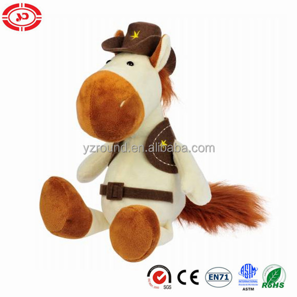 Cowboy suit cool boy gift stuffed soft Horse gift toy