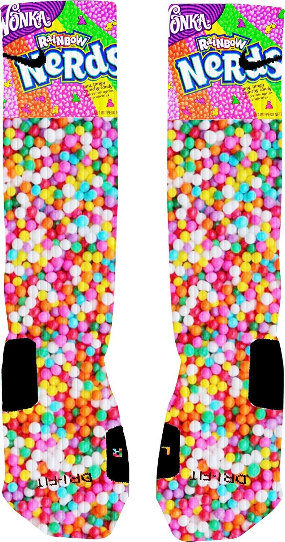 Elevate Apparel and Gear Nerds Candy Custom Elite Socks (Large)
