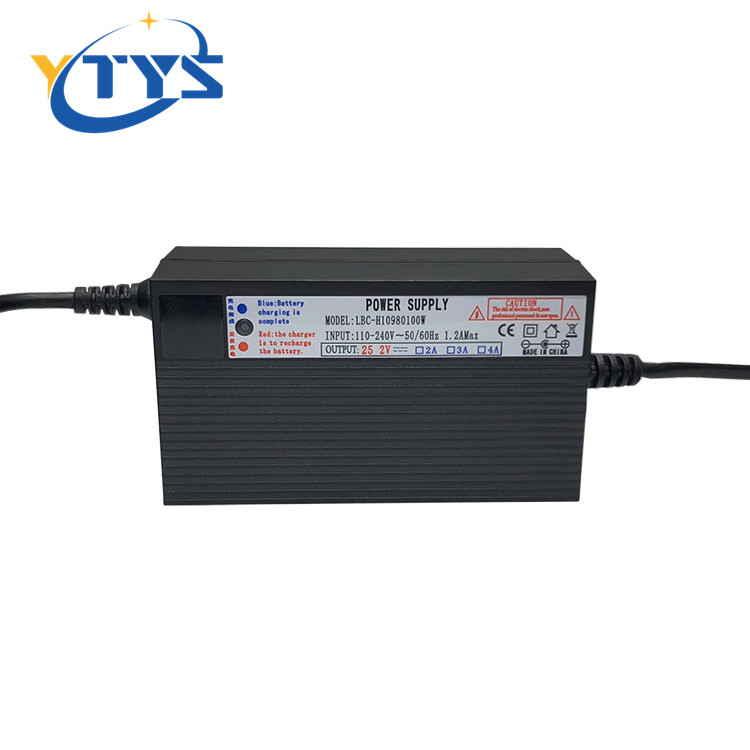 AC DC 54.6v 6a li-ion battery charger For 18650 lithium battery