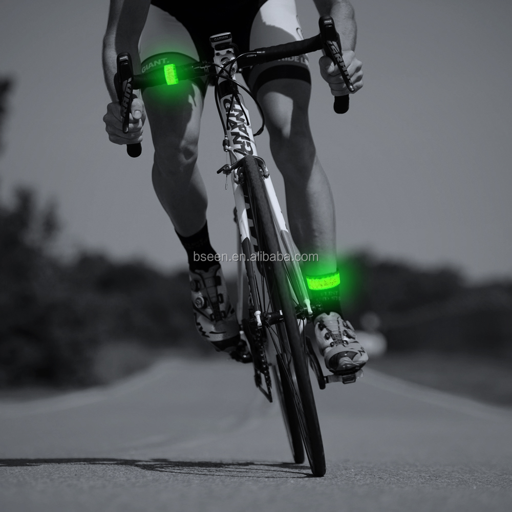 Nylon fabric green led safety light bicycle cycling <strong>accessories</strong>
