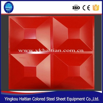 Fire Proof Wall Panels With 3D Decorative Wall Covering Panels
