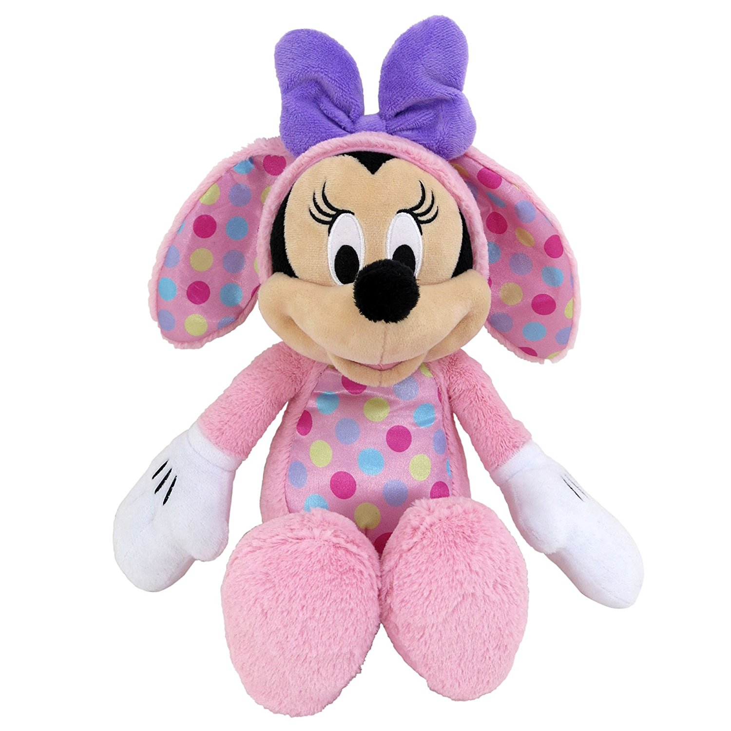Disney Plush Pink Minnie Mouse as Easter Bunny