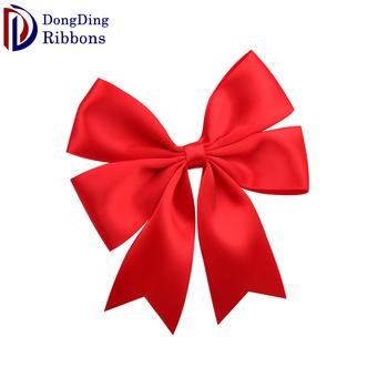 Diy Red Satin Ribbon Bows Ribbons And Bows Wholesale For Wedding