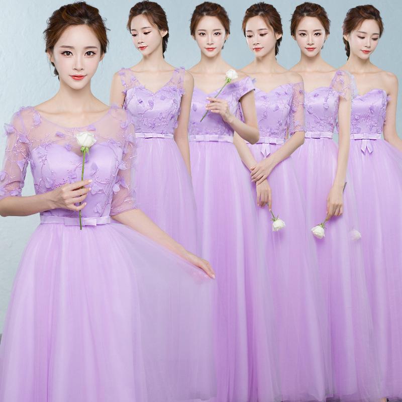 Purple Satin Bridesmaid Dress, Purple Satin Bridesmaid Dress ...