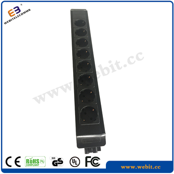 Metal Material 8 Ports Germany Type Sockets,New Design,Plug And Play Power Strip