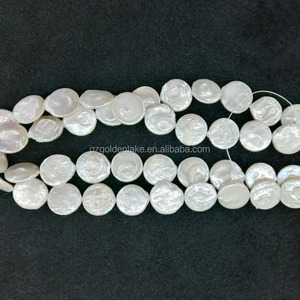 Natural freshwater pearls cultured pearls thin coins freshwater pearls