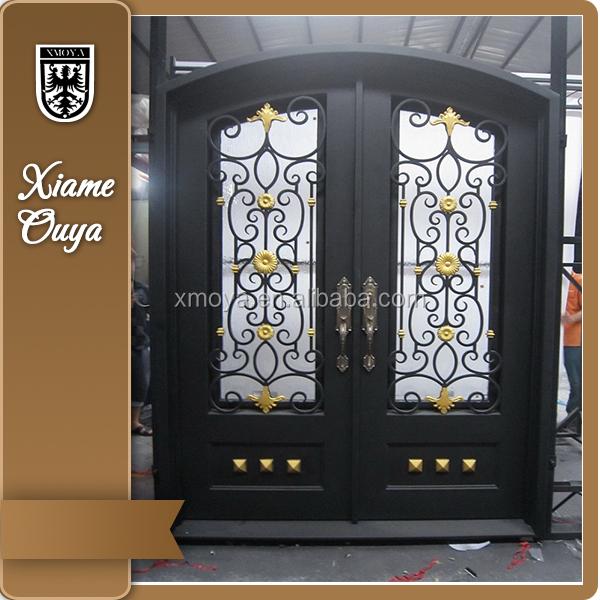 Elegantes de hierro puertas de entrada principal dise o for Diseno puerta principal