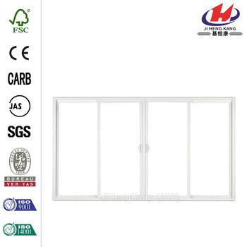 4 Panel Contemporary Vinyl Sliding Patio Door With
