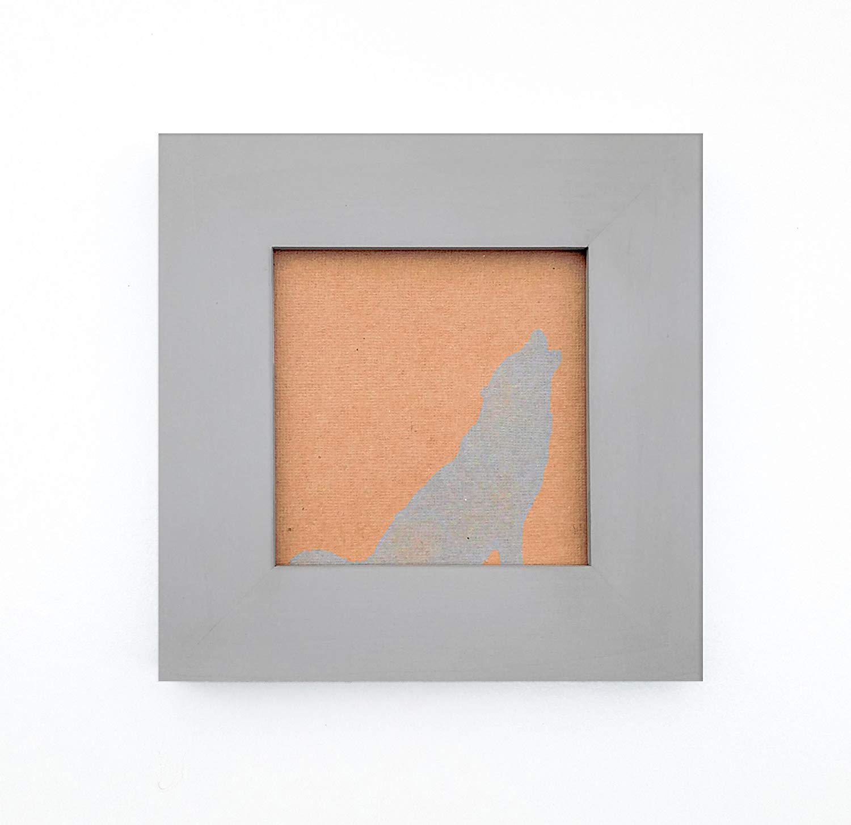 Handmade Picture Frames - Cloud Grey Matte Finish over Solid Wood - 4X4, 5X5, 6X6, 7X7, 8X8, 4X6, 5X7, 8X10, 8.5X11, 8X12