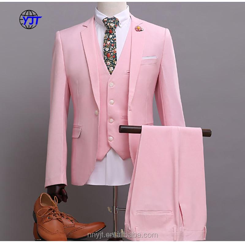 Venta al por mayor traje rosa para boda-Compre online los mejores ...