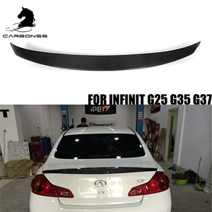 G25 G35 G37 carbon fiber rear lip spoilers for Infiniti tail bumper wing  2008-2014