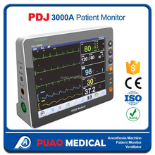 With 8.4 inch Handle and Portable Patient Monitor Veterinary Basic Parameters (SPO2,NIBP,TEMP,RESP,HR), Patient Monitor