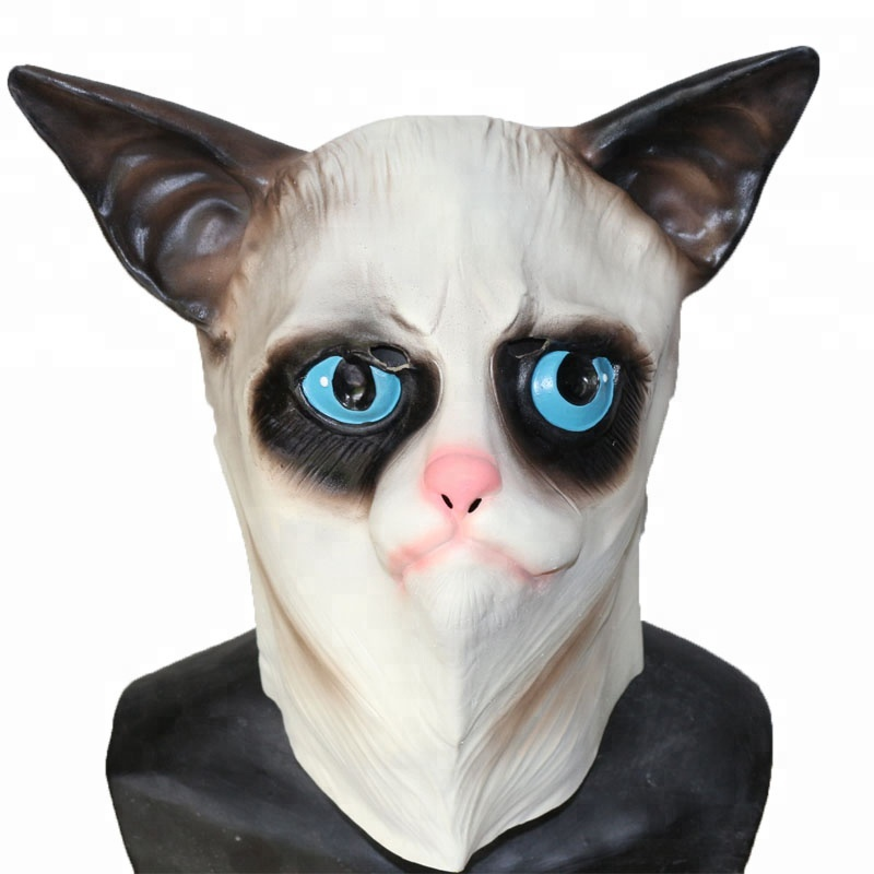 Light Comedy Animated Grumpy Cat Mask Latex Animal Head Mask For Fancy  Costume - Buy Latex Cat Head Mask 42db34176e83