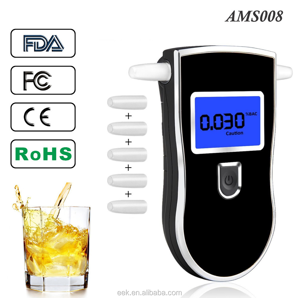 Portable Breathalyzer Drive Safety Digital Alcohol Tester Analyzer Detector