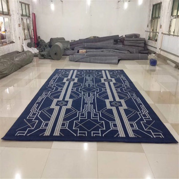 tianjin hand tufted carpets wool material modern design square patterns