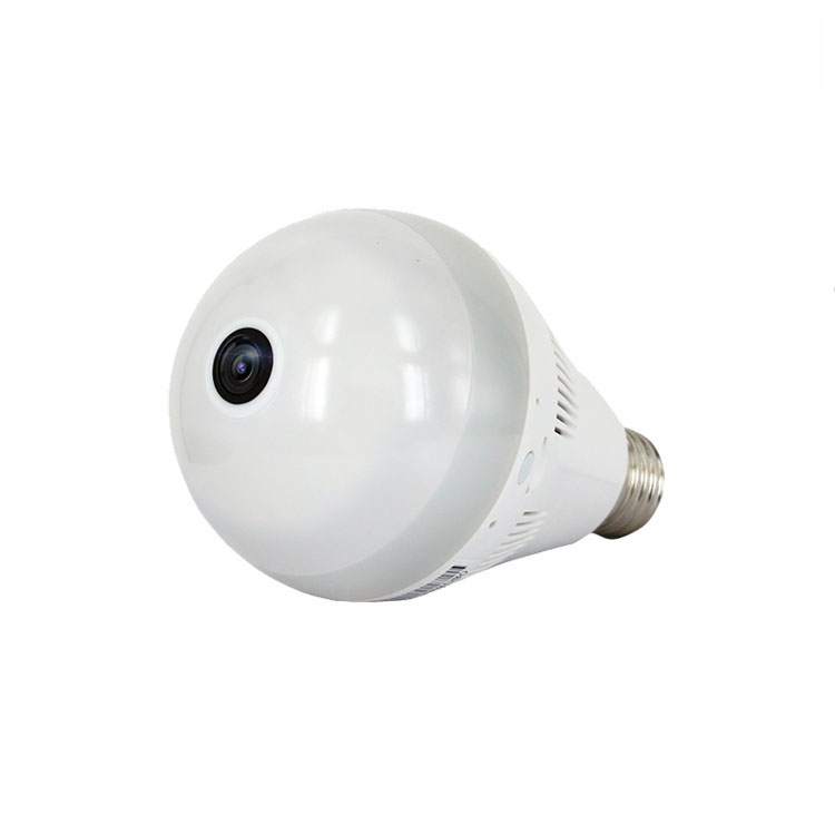 Home Security 360 Degree Panoramic 3MP 128GB Infrared CCTV Wireless IP Camera Bulb