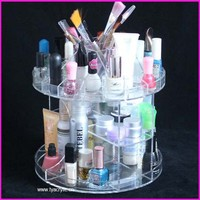 New Products With Greeting Card Spinning Mac Make Up Cosmetics Nail Polish Dispay Boxes Acrylic Lipstick Holder