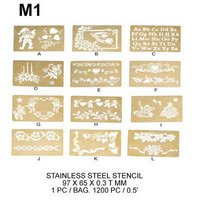 M1 STAINLESS STEEL STENCIL