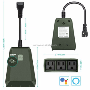 General purpose surge protector waterproof 3 outdoor smart extension socket outlet power strip