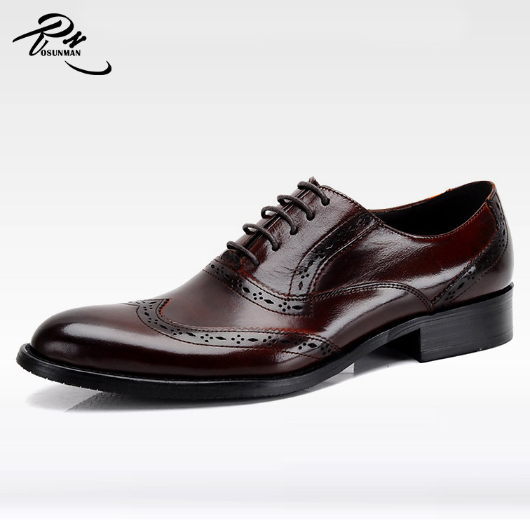 Perfect workmanship dark red genuine cow leather China wholesale new fashion men dress <strong>shoes</strong>