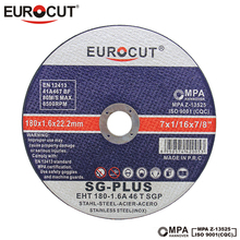 EUROCUT factory direct price cutting disc for stainless steel 7 inch