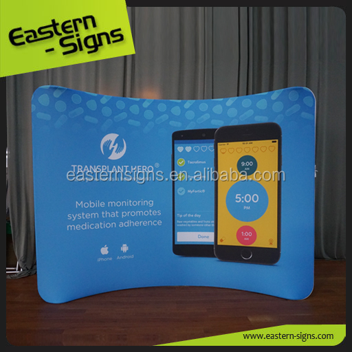 High Quality Advertising Trade Show Display Stands Backdrop Pop Up Stand