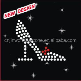 Hot selling women high heels glitter transfer wholesale iron on R 1 (89)