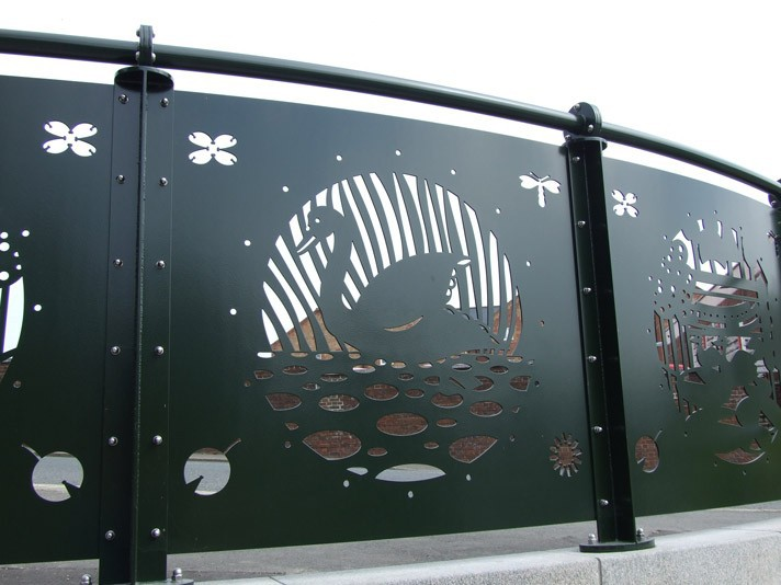 ISO9001 metal laser cut fence toppers