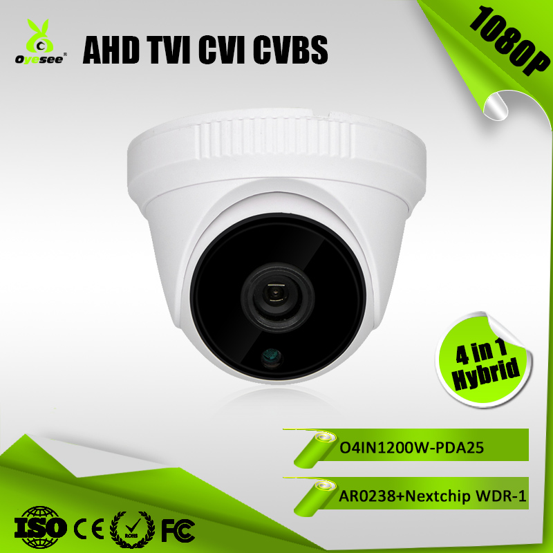 2.0MP 1080P IR distance 25m Hybrid 4 in 1 AHD TVI CVI CVBS bus 220v bunker hill security WDR camera