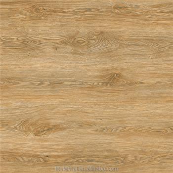 Yellow Wood Grain Full Glazed Polished Porcelain Floor Tile 500