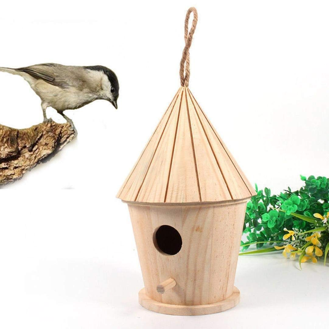 CreazyDog® Bird House, Nest Dox Nest House Bird House Birds Box Birds Wooden Cage (14x8.5cm/5.5x3.3)