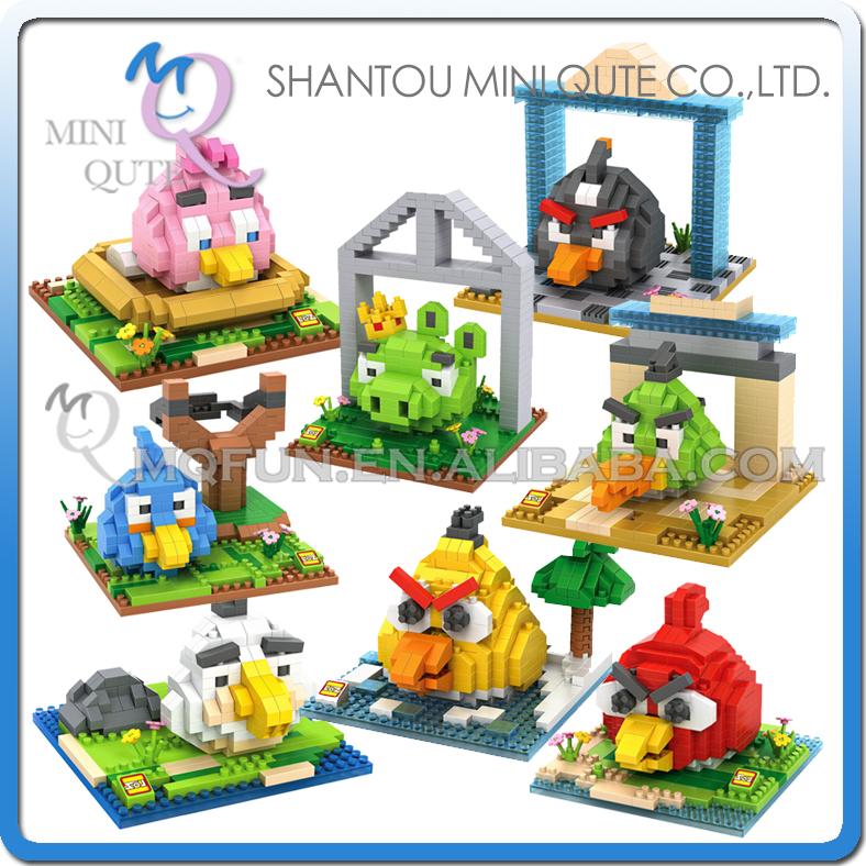 Mini Qute WTOYW LOZ 3D 8 styles Kawaii cartoon game bird animal diamond plastic building blocks