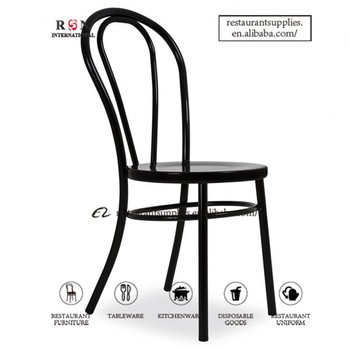 Replica thonet chair retro cafe chair bentwood steel metal for Thonet replica chair
