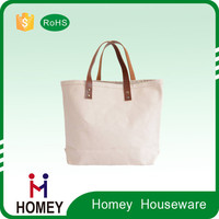 Newest Hot Selling Hot Quality Attractive Price Custom Tag Non Woven Canvas Tote Bag Leather Handle