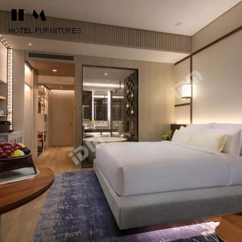 Modern Hotel Bintang 5 Desain Interior Kamar Tidur Set Tempat