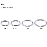 Best Selling 1.4mm wire diameter stainless steel custom split key ring for promotion gift