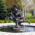 High Quality Life Size Black Bronze Horses Water Fountain
