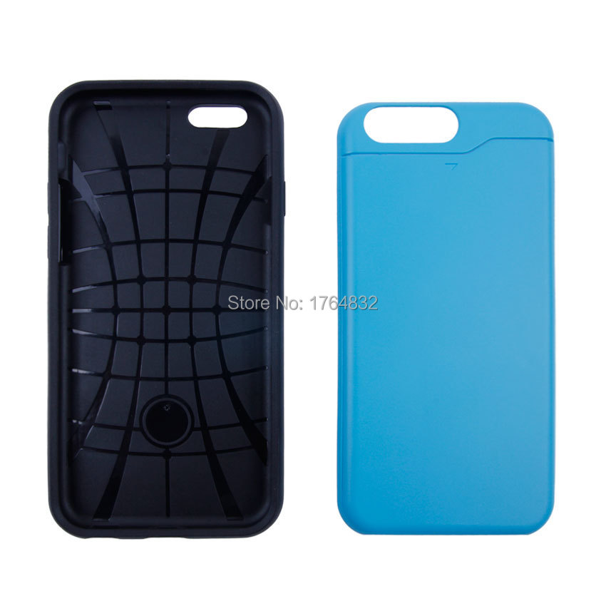 2015hot sale TPU+PC phone case for apple iphone 6 4.7inch 5types 2 in 1 phone cover full body protector in stock