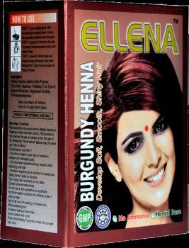 Ellena Herbal Alami Rambut Colour Ellena Burgundy Henna 180 G