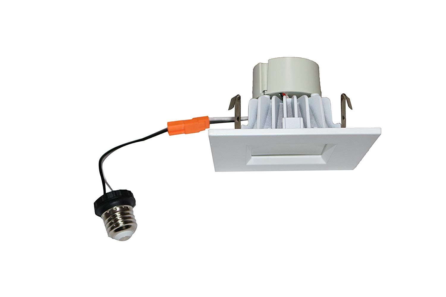 Goodlite G-19856 3 inch Square Retrofit LED Recessed Lighting Fixure, GU10 Repalcment, Dimmable Downlight, 8W (50W Replacment) 500 LM CRI 90 Energy Star, UL Lis White Smooth Trim