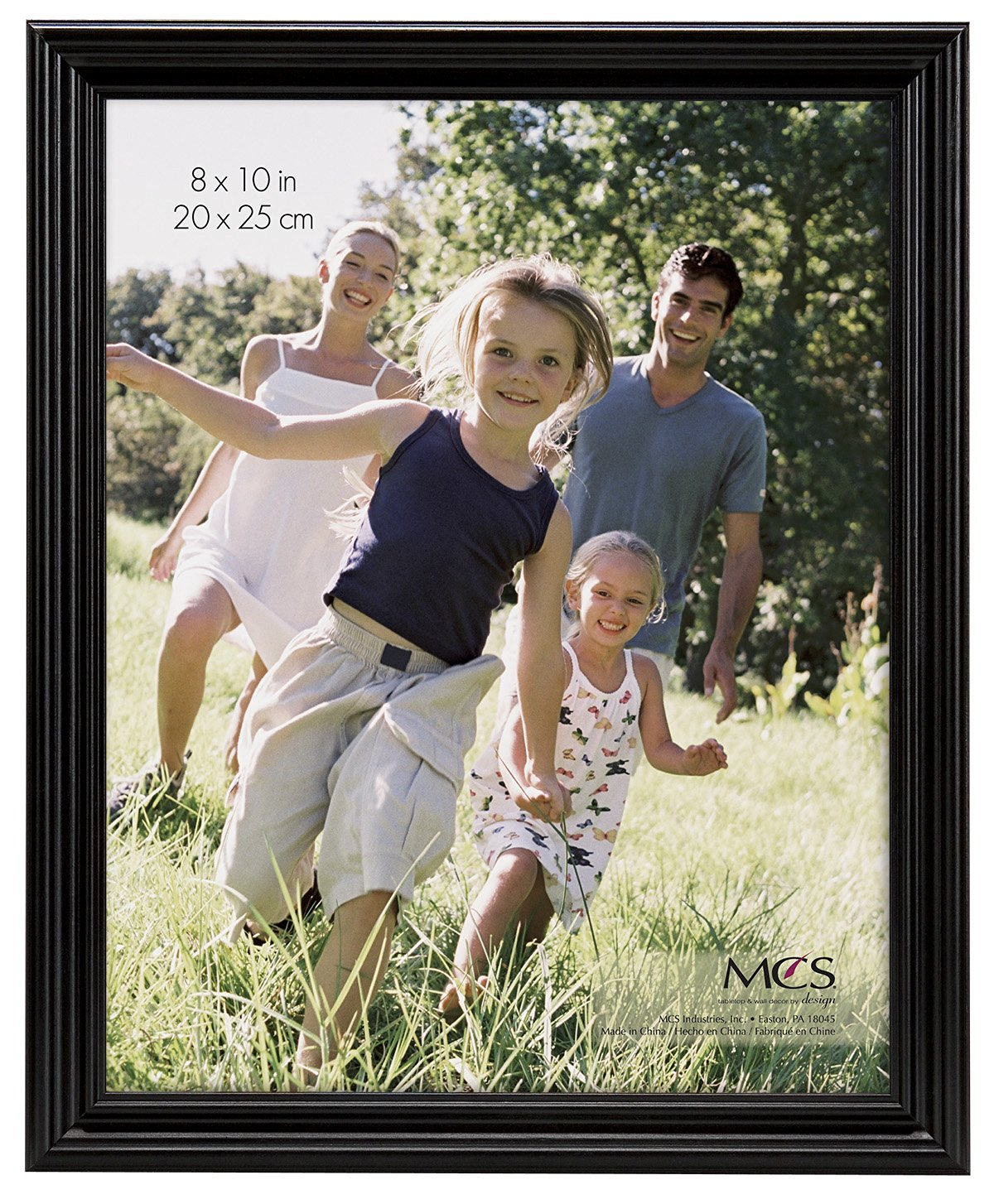MCS 8x10 Inch Solid Wood Picture Frame, Black (53624)