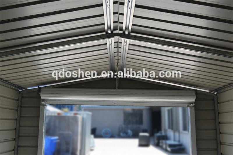 Garage en m tal abri de jardin stockage hangar m tallique for Abri de jardin metallique