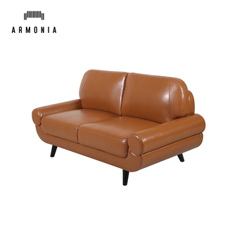 Leather Modern 2 Seater Coffee Room Mini Sofa,Cheap Office Sofa ...