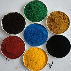Factory prices Paint Grade Fe2O3 yellow / black / green / blue / Red Iron Oxide