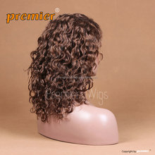 short blonde human Brazilian hair full lace wig for black women