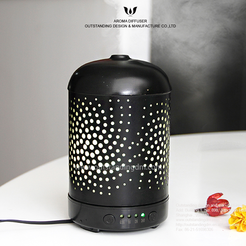 chic black metal ultrasonic essential oil aroma diffuser