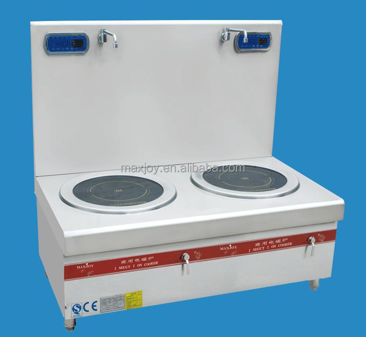 30KW INDUCTION STOVE WITH FLAT & DOUBLE BURNERS FOR HOTEL/RESTAURANT USE