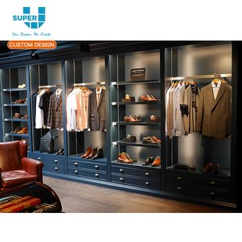 70aa474e1894 Men's Clothing Display Wall Cabinet Menswear Shop Furniture Store interior  design